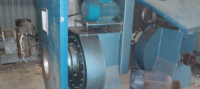 RADIAL BLADED CONVEYING FAN